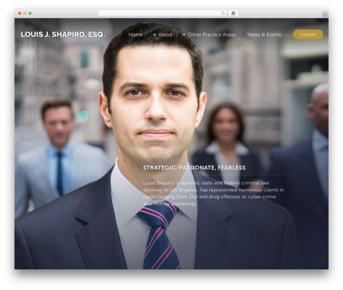 Lawyer by Osetin WordPress theme design - loushapiro.com