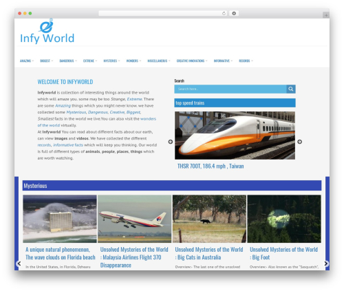 LiveBlog template WordPress free - infyworld.com