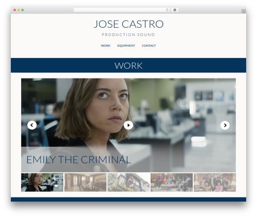 Make free WP theme - josecastrosound.com