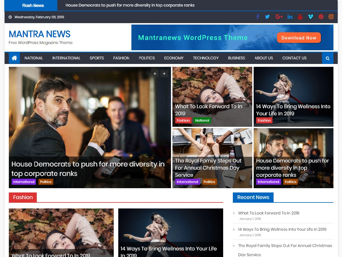 Mantranews WordPress news template