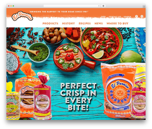 Niku WordPress theme - elparaisofoods.com