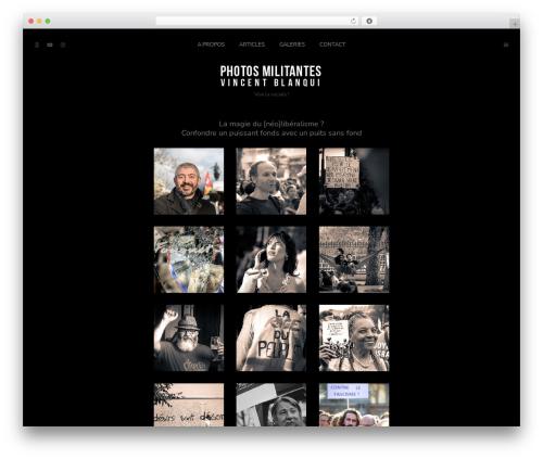 Pinhole best WordPress theme - photosmilitantes.com
