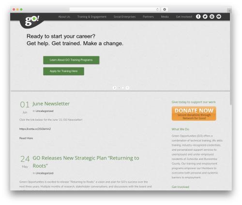 Satellite7 WordPress theme design - greenopportunities.org
