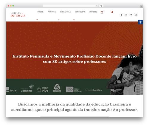 Saxon theme WordPress - institutopeninsula.org.br