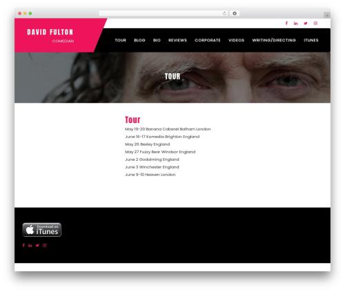 Sungit Lite template WordPress free - davidfulton.com