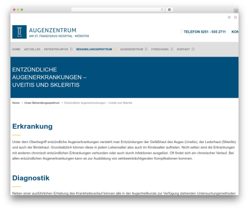 TheBuilt best WordPress theme - uveitis-zentrum.de