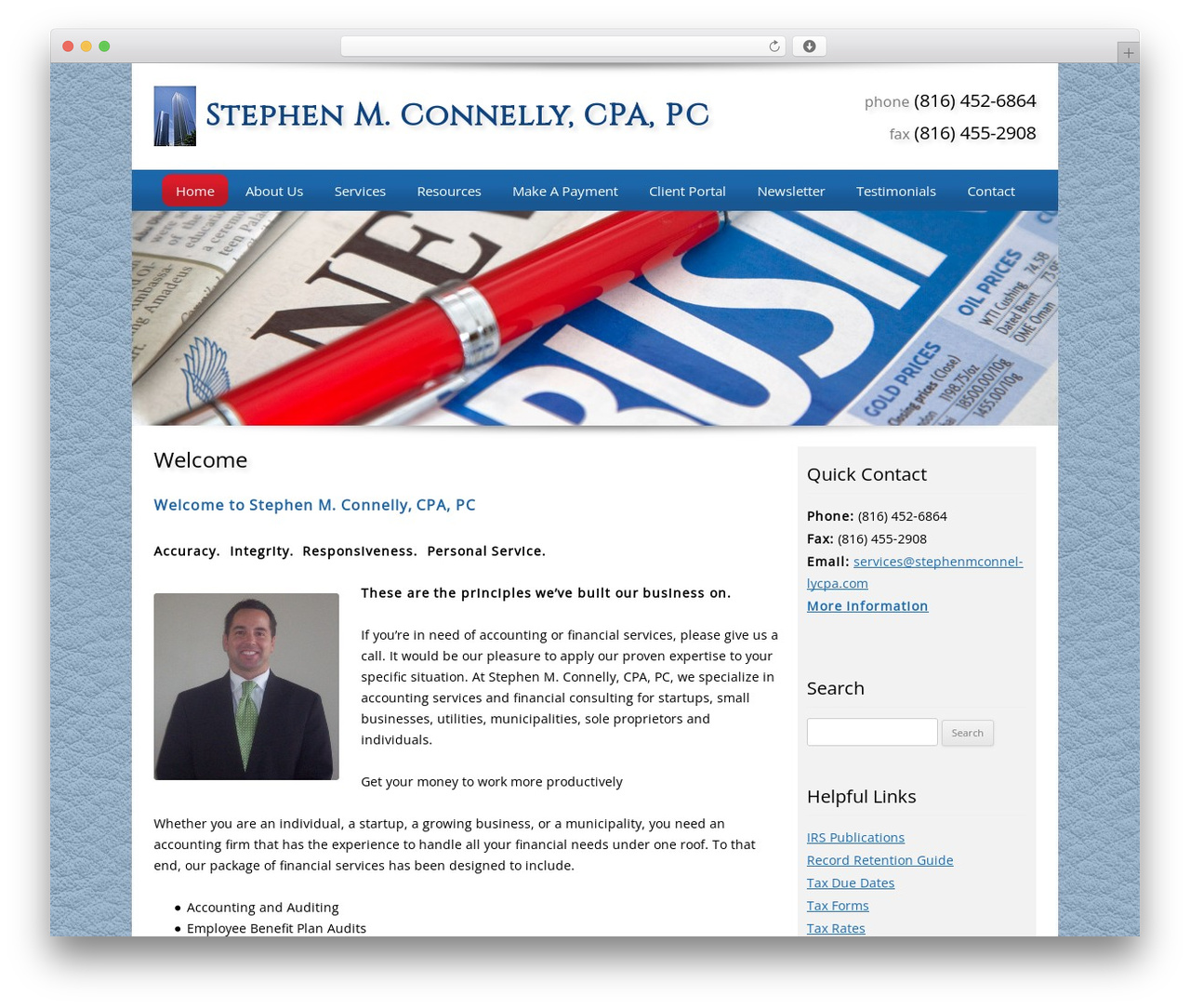 Theme WordPress Customized - stephenmconnellycpa.com