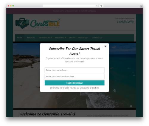 Travel Agency Pro WordPress travel theme - centsiblevacations.com