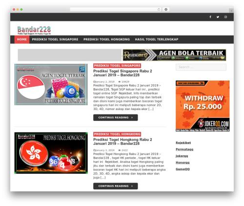 WordPress template eBlog Lite - bandar228.xyz