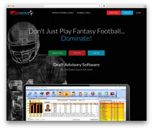 WordPress theme Startuply WP - footballsoftware.com
