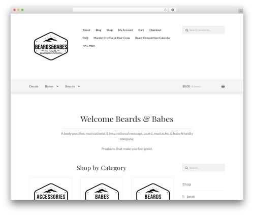 WP theme Boutique - beardbabelove.com