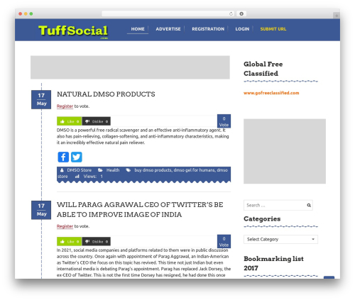 WP theme Curtains - tuffsocial.com