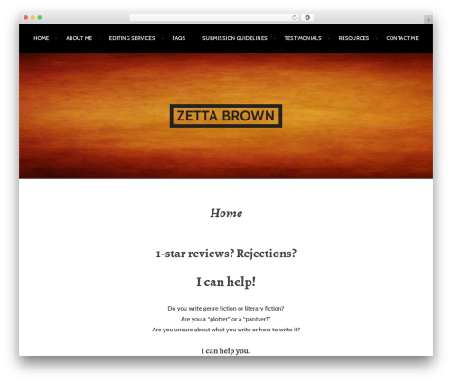 Argent free WP theme - zettabrown.com