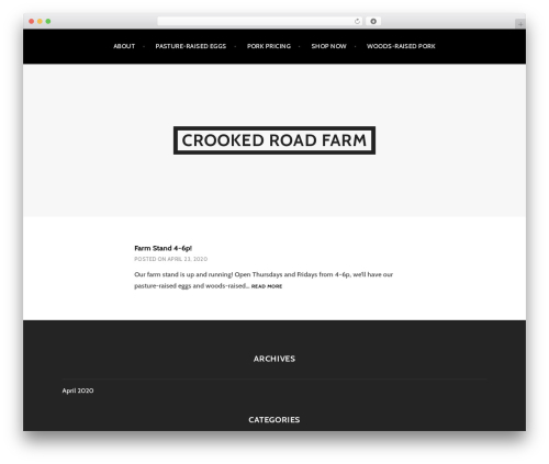 Argent template WordPress free - crookedroadfarm.com