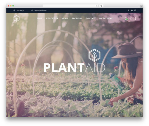 Best WordPress template Synergia - plantaid.com