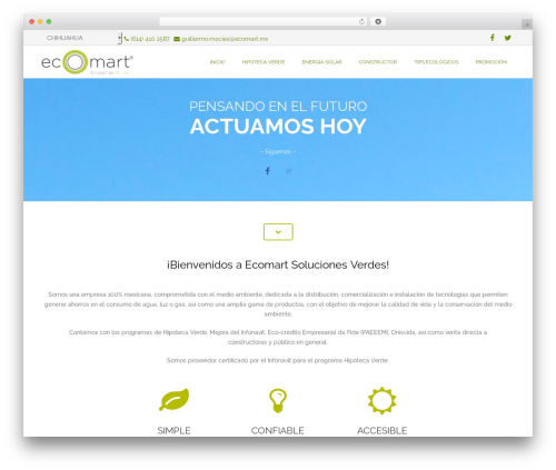 Best WordPress theme Impreza - ecomartmex.com