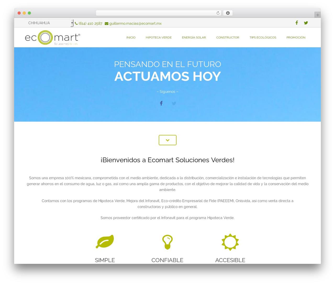 Best WordPress theme Impreza - ecomartmex.com