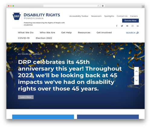 Disability Rights Pennsylvania top WordPress theme - disabilityrightspa.org