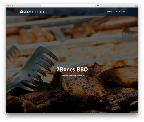 Divi WordPress theme design - 2bonesbbq.com
