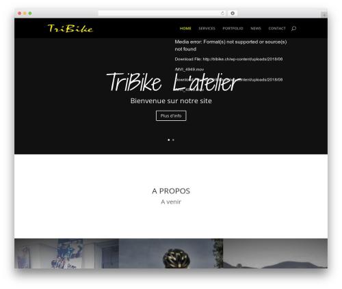 Divi WordPress theme - tribike.ch