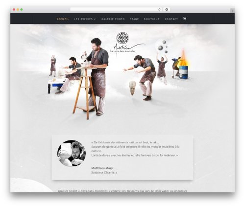 Divi WordPress website template - la-terre-dans-les-etoiles.com