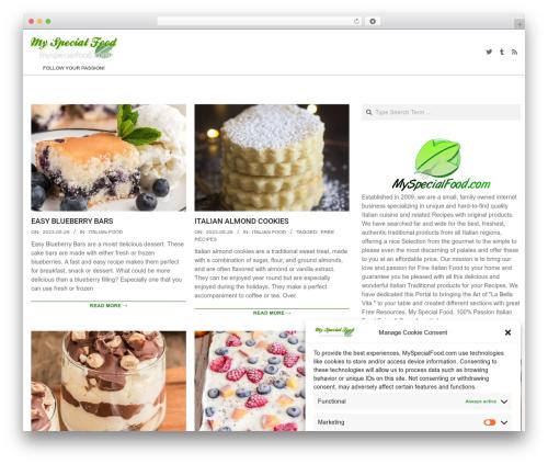 Dollah WordPress theme - myspecialfood.com