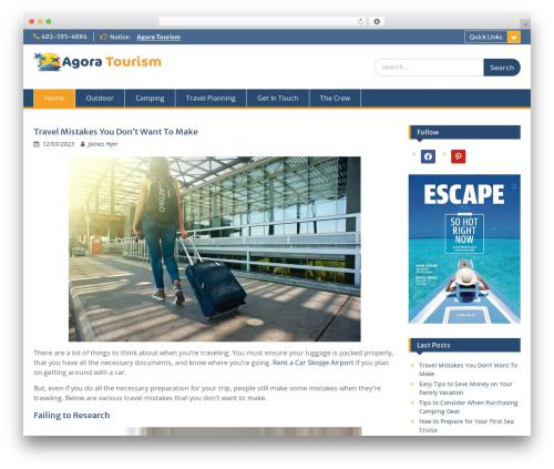 Education Hub best free WordPress theme - agora2-tourism.net