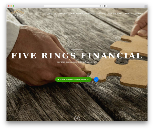 EXO Theme WordPress page template - fiveringsfinancial.com