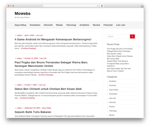 Gatsby WordPress theme design - mowebs.net