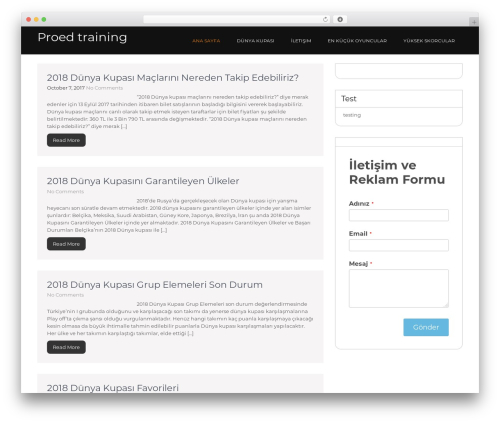 Guideline theme WordPress free - proedtraining.com