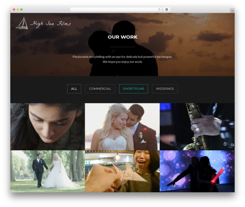 Inspiro best WordPress theme - highseafilms.com