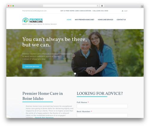 KindlyCare theme WordPress - homehealthcareidaho.com