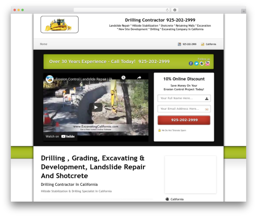 Local Lead Arsenal business WordPress theme - drillingcalifornia.com