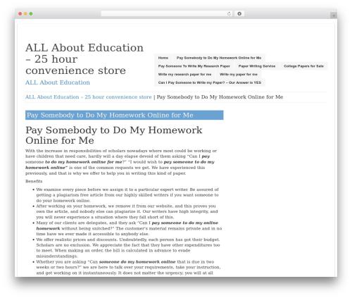 LookWay WordPress template free download - 25hourconveniencestore.com