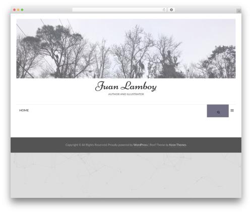 Reef WordPress template - juanlamboy.com