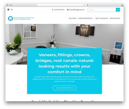 Regina WordPress theme - nyedentalpc.com