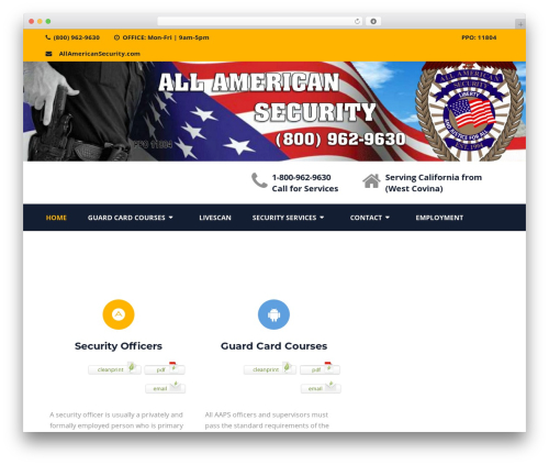 Structural free WordPress theme - allamericansecurity.com