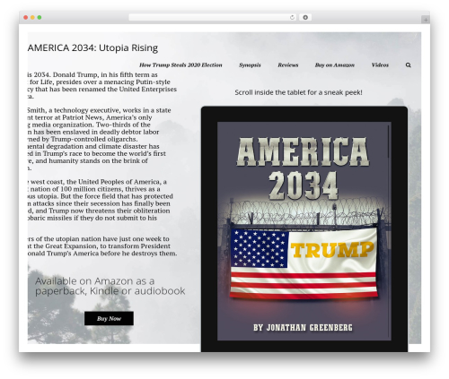 Template WordPress Booker - america2034.com
