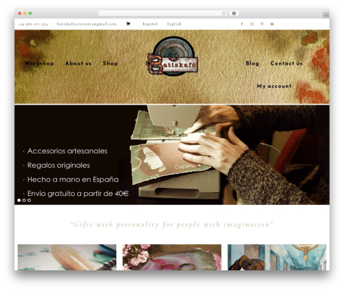 Template WordPress Refined Theme - batiskafoartesania.com
