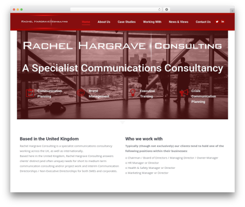 The7 theme WordPress - rachelhargraveconsulting.com