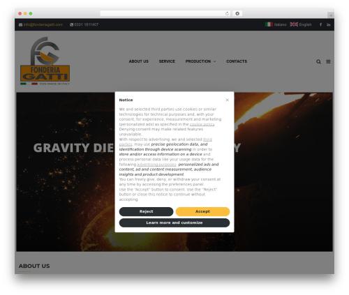TheBuilt best WordPress template - fonderiagatti.com