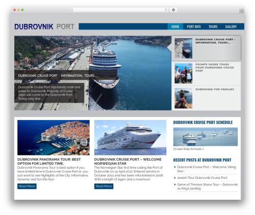 Theme WordPress Joshua - dubrovnik-cruise-port.com