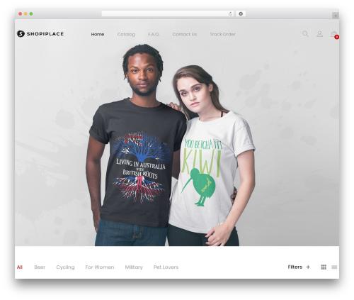 Unero WordPress shopping theme - shopiplace.com