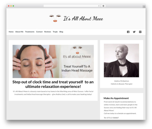 WordPress theme BeautyTemple - itsallaboutmeee.com