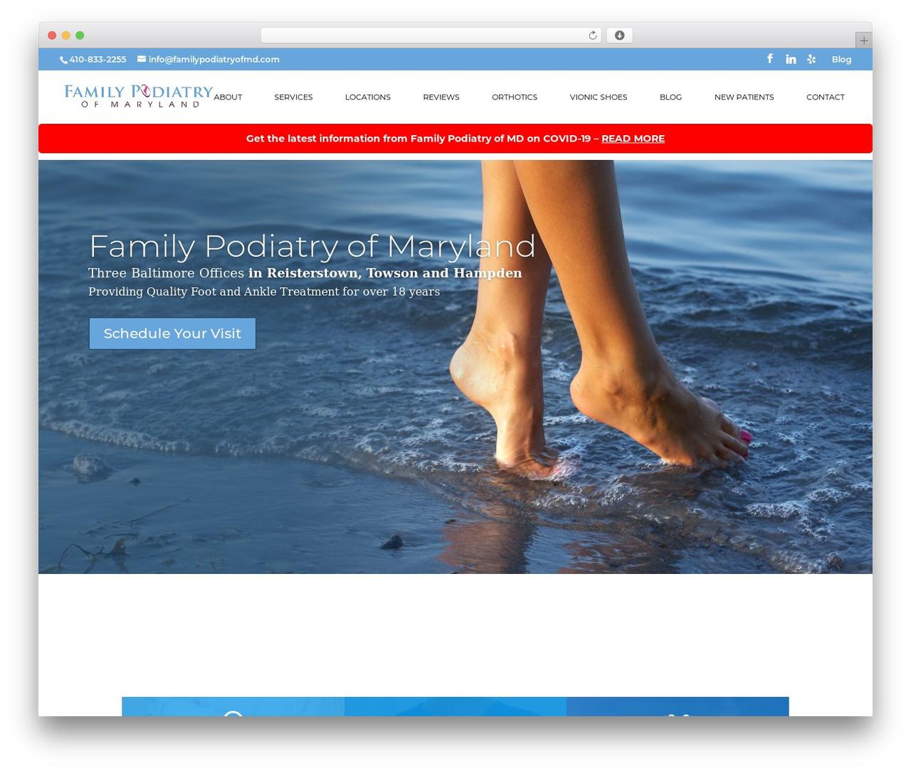 WordPress theme Divi - familypodiatryofmd.com