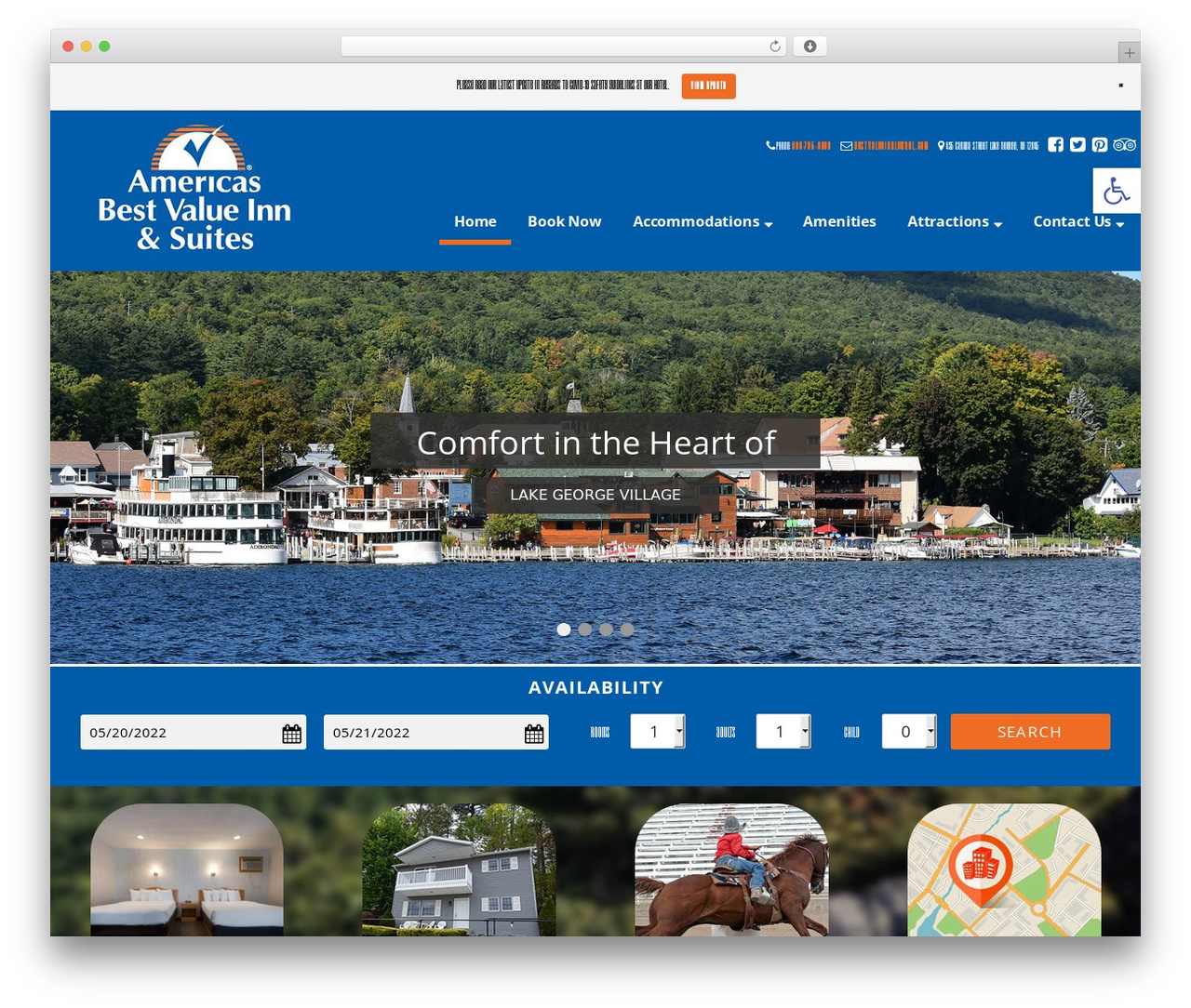 Ascension best WordPress theme - americasbestvalueinnlakegeorge.com