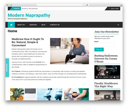 Best WordPress theme bFastMag Pro - naprapathy.com