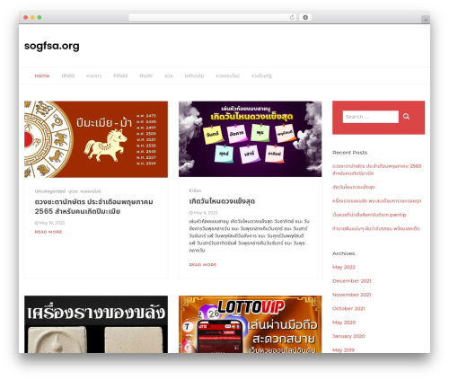 Bootstrap Blog WordPress theme design - sogfsa.org