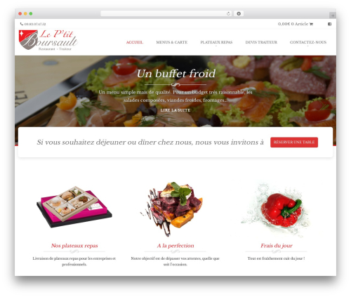 Brasserie Pro WordPress restaurant theme - leptitboursault.com