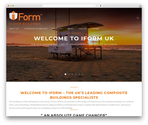 Contractor WordPress theme design - iformuk.com